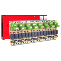 Space Age SSU MR-828/C/R, Compact Form Relay, 2A, Dual SPDT, 8 Position, Red Enclosure