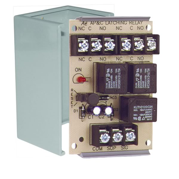 Latching Relay 10A DPDT 1 Position Grey Encl.