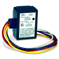 Air Products & Controls RIC-1, Multi-Voltage Series Relay, 10A, SPDT, Spud-Mount Case with LED