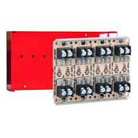 Space Age SSU SC-114/C/R, Dual-Circuit Fuse Module, 10A, 4-Position, Red Enclosure