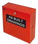 Space Age Electronics SSU00674 DBX/AA Asbuilt Drawing Cabinet, Red, 12 1/4-in X 14 1/4-in