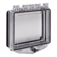 STI-7511E, Poly Enclosure w/Open Backbox for Flush Mount, Exterior Thumb Lock