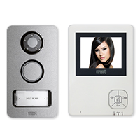 Urmet 956-83, 1 Family, 2 Wire, Handsfree 4 Color Video Kit with Mikra DoorBell/Camera
