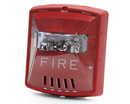 Wheelock Exceder 24VDC Horn Strobe, Model HSR, Wall-Mount, Red
