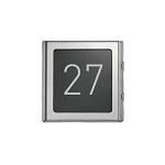 Urmet 1148/50 Sinthesi anodized aluminum in polished steel color house number module