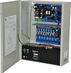 Altronix AL1024ULACM Access Power Controller w/ Power Supply/Charger, 8 Fused Relay Outputs, 24VDC @ 10A, FAI, 115VAC, BC400 Enclosure