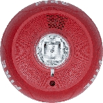 System Sensor PC4RL, Ceiling-Mount Horn Strobe, Red