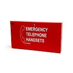 Space Age SSU00567, Firefighter Phone Cabinet, Size D for 10 phones