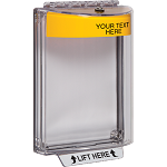 STI-13020CY, Polycarbonate Cover with Yellow Housing, Horn, Custom Label, Flush Mount