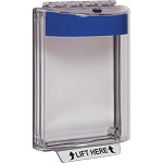 STI-13020NB, Polycarbonate Cover with Blue Housing, Horn, Flush Mount
