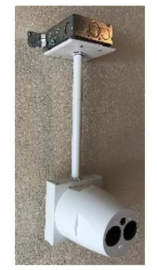 FE-1140-000, Ceiling Pendant Mount for Reflective Beam Head - 12 Inch Nipple - White