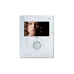 Urmet 1716/4 Hands-free Aiko video door phone, color white for Ipervoice