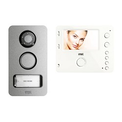 Urmet 1722/83 One-family color video kit with Mikra panel and hands-free Miro video door phone