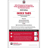 NFPA 25, Standard for the Inspection, Testing, and Maintenance of Water-Based Fire Protection Systems, Self-Adhesive Index Tabs