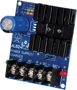 Altronix Linear Power Supply Charger, Single Class 2 Output, 6/12/24VDC @ 1.2A, 16 to 24VAC, Board