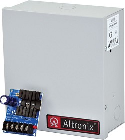 Altronix Linear Power Supply Charger, Single Class 2 Output, 6/12/24VDC @ 1.2A, 16 to 24VAC, BC100, Enclosure