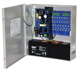 Altronix CCTV Power Supply, 16 Fused Outputs, 12/24VDC @ 6A, 115VAC, BC300 Enclosure