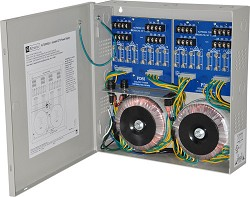 Altronix CCTV Power Supply, 16 Isolated Fused Outputs, 24VAC @ 25A, 115VAC, BC300 Enclosure