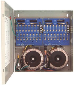 Altronix CCTV Power Supply, 32 Fused Outputs, 24/28VAC @ 25A, 115VAC, BC300 Enclosure