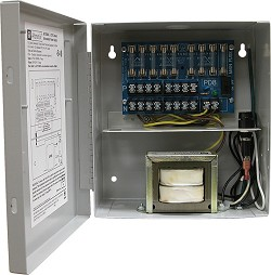 Altronix CCTV Power Supply, 8 Fused Outputs, 24/28VAC @ 3.5A, 115VAC, BC100 Enclosure