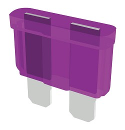 Altronix BF3 Blade Fuse, 3A, Pack of 25 Violet