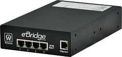 Altronix EBRIDGE4PCRX EoC 4 Port Receiver, 25Mbps per port, Generates PoE/PoE+, 48-56 VDC, Requires Compatible Transceiver