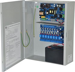Altronix EFLOW102NA8 Access Power Controller w/ Power Supply/Charger, 8 Fused Relay Outputs, 12VDC @ 10A, Aux Output, FAI, 115VAC, BC400 Enclosure