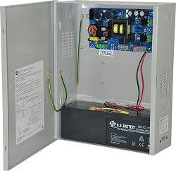 Altronix EFLOW104NX Power Supply Charger, Single Output, 24VDC @ 10A, Aux Output, FAI, LinQ2 Ready, 115VAC, BC400 Enclosure