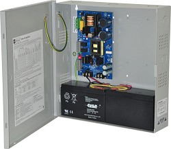Altronix EFLOW6N Power Supply Charger, Single Output, 12/24VDC @ 6A, Aux Output, FAI, LinQ2 Ready, 115VAC, BC300 Enclosure