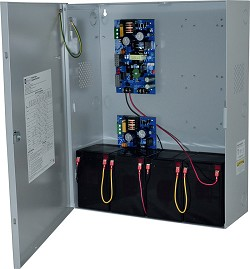 Altronix MAXFIT11FE Dual Power Supply Expandable Power Systems, 12VDC/24VDC @ 4A; 12VDC/24VDC @ 4A, BC750 Enclosure