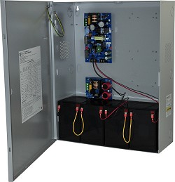 Altronix MAXFIT13FE Dual Power Supply Expandable Power Systems, 12VDC/24VDC @ 4A; 12VDC/24VDC @ 6A, BC750 Enclosure