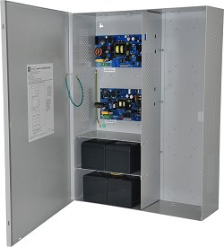 Altronix MAXIMAL33E Power Supply Charger, Expandable, Dual 12/24VDC outputs @ 6A each, 115VAC, BC800 Enclosure