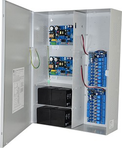 Altronix MAXIMAL33F Access Power Controller w/ Power Supply/Chargers, 16 Fused Relay Outputs, Dual 12/24VDC P/S @ 6A each, FAI, LinQ2 Ready, 115VAC, BC800 Enclosure