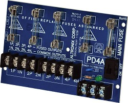 Altronix PD4  Power Distribution Module, 4 Fused Outputs up to 28VAC/VDC, Board