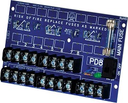 Altronix PD8CB  Power Distribution Module, 8 PTC Outputs up to 28VAC/VDC, Board