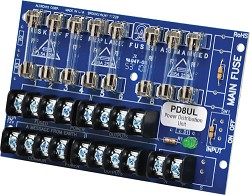 Altronix PD8UL  Power Distribution Module, 8 Fused Outputs up to 28VAC/VDC, Board