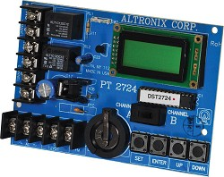 Altronix PT2724  Timer, 365 Day 24 Hour Annual Event, 2 Channel, LCD Display, Battery Charger, Board