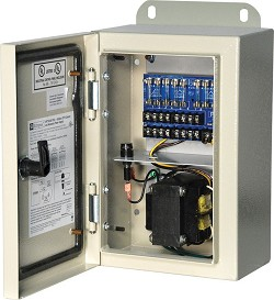 Altronix WPTV248175UL  CCTV Power Supply, Outdoor, 8 Fused Outputs, 24/28VAC @ 7A, 115VAC, WP1 Enclosure