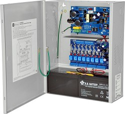 Altronix AL400ULACM Access Power Controller w/ Power Supply/Charger, 8 Fused Class 2 Relay Outputs, 12/24VDC @ 4A, FAI, 115VAC, BC400 Enclosure