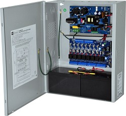 Altronix AL600ULACM Access Power Controller w/ Power Supply/Charger, 8 Fused Relay Outputs, 12/24VDC @ 6A, FAI, 115VAC, BC400 Enclosure