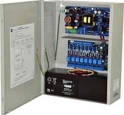 Altronix AL1024ULACMCB Access Power Controller w/ Power Supply/Charger, 8 PTC Class 2 Relay Outputs, 24VDC @ 10A, FAI, 115VAC, BC400 Enclosure