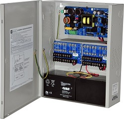 Altronix AL1024ULXPD16 Power Supply Charger, 16 Fused Outputs, 24VDC @ 10A, 115VAC, BC400 Enclosure