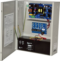Altronix AL1024ULXPD4 Power Supply Charger, 4 Fused Outputs, 24VDC @ 10A, 115VAC, BC400 Enclosure