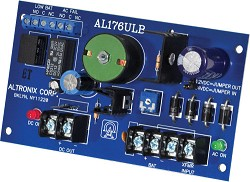 Altronix AL176ULB Access Control Power Supply Charger, Single PTC Class 2 Output, 12/24VDC @ 1.75A, FAI, 24VAC, Board