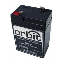Orbit EB-6 6V, 4.5AH SEALED LEAD-ACID REPLACEMENT BATTERY