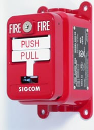 SigCom Dual-Action Explosion Proof Pull Station, DPDT