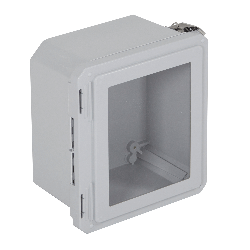 STI EF100806-W, Fiberglass Enclosure, Windowed Hinged Door - 10.73-in H x 8.74-in W x 6.06-in D