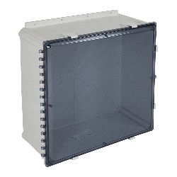 STI EP242410-T, Polycarbonate Enclosure, Tinted Hinged Door - 24-in H x 24-in W x 10-in D