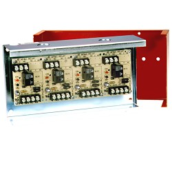 Space Age SSU MR-104/C/R, Multi-Voltage Control Relay, 10A, SPDT, 4 Position, Red Enclosure