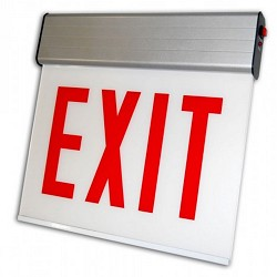Orbit CESSE-W-2-EB-E-N Chicago Approved Edge-Lit Surface Mount Led Exit Sign